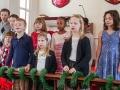 Children's choir sang when Bishop Bickerton visited