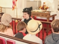 JoAnne Jones leading children's church in 200th service