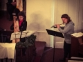 On Christmas Eve, a harp and flute duet