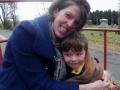 Keely and Sam on hayride