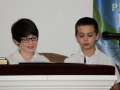 Hunter and Chris during cross liturgy