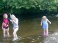 The children went wading