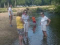 It was hot, tempting the adults to wade too