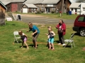 games of tag and relay races began the fun