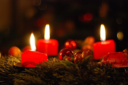 Advent season is celebrated with candles