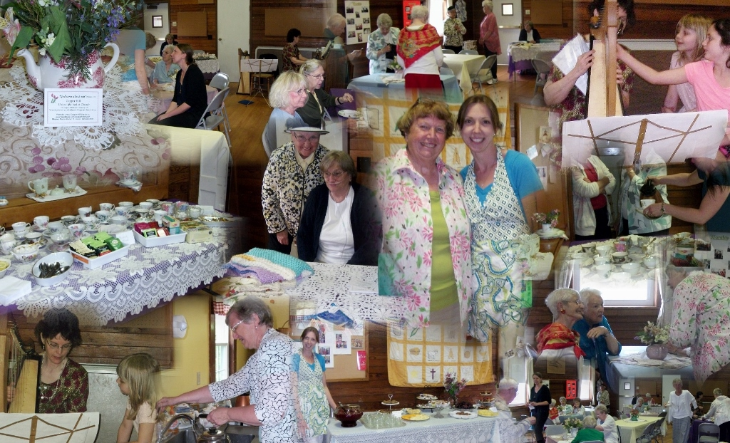 Collage of Mothers' Day Tea