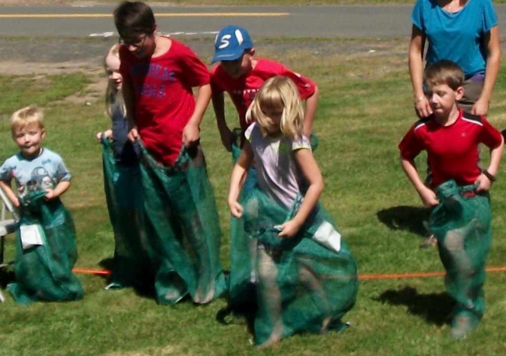 Outdoor games at Summer Send-off