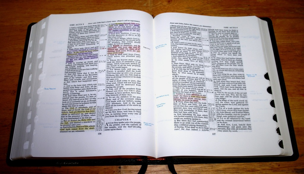 Open your Bible for the new Bible study series