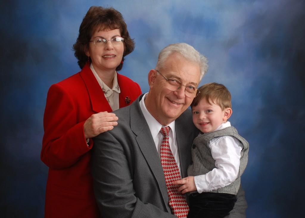 Pastor Kelvin Jones and JoAnne and grandson