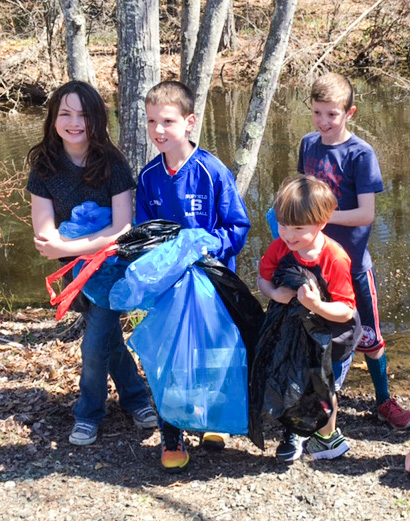 Part of our rail trail clean-up crew